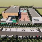 Site plan gedung perpustakaan daerah Kab Pangandaran (Dispusif Pangandaran)