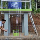 Sumur bor air bantuan dari CSR PLN di Kampung Sukajaya, Desa Tanjungsari, Kecamatan Salawu (Faizal/GentraPriangan)