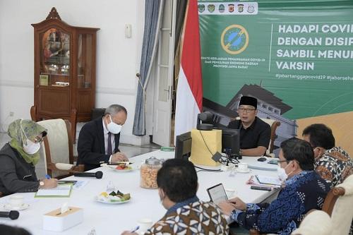 Gubernur Jabar Ridwan Kamil menjamin Pilkada serentak 2020 di Jawa Barat akan berjalan aman (foto: humasjabar)